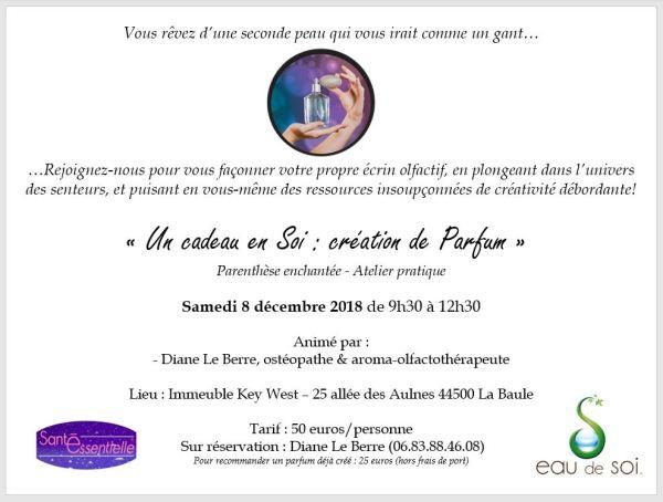 Un cadeau en Soi - Creation de Parfum - 8 decembre 2018 - Eau de Soi